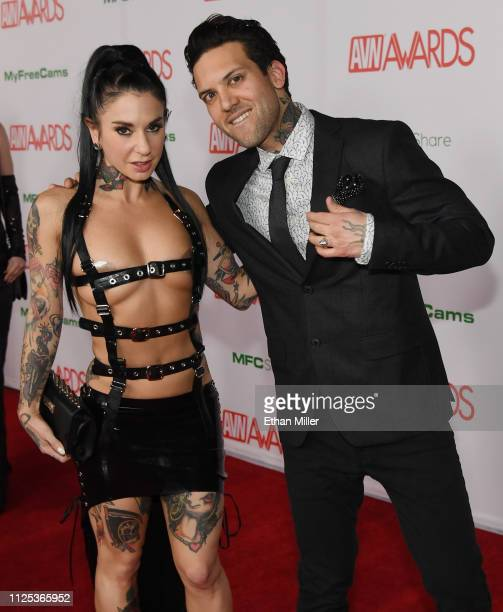 Adult film actress/director Joanna Angel and her husband adult film actor Small Hands attend the 2019 Adult Video News Awards at The Joint inside the...