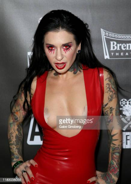 Adult film actress/director Joanna Angel attends the world premiere of the film LadyKillerTV at the Brenden Theatres inside Palms Casino Resort on...