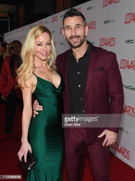 Adult film actress/director Kayden Kross and adult film actor/director Manuel Ferrara attend the 2019 Adult Video News Awards at The Joint inside the...