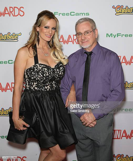 Adult film actress/director Stormy Daniels and adult film actor Jake Jacobs attend the 2017 Adult Video News Awards at the Hard Rock Hotel Casino on...