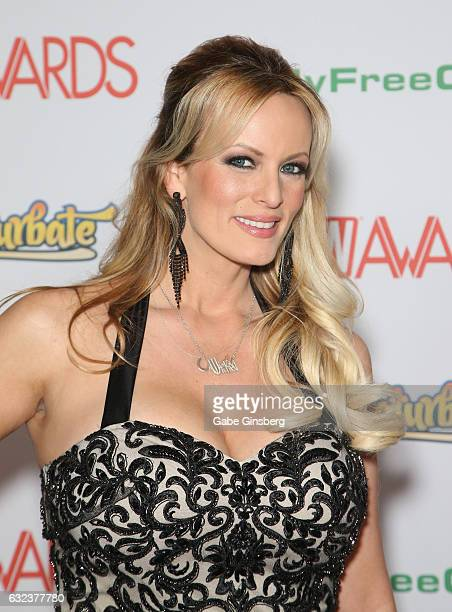 Adult film actress/director Stormy Daniels attends the 2017 Adult Video News Awards at the Hard Rock Hotel Casino on January 21 2017 in Las Vegas...