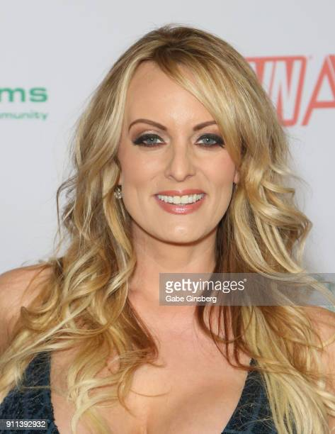 Adult film actress/director Stormy Daniels attends the 2018 Adult Video News Awards at the Hard Rock Hotel & Casino on January 27, 2018 in Las Vegas,...