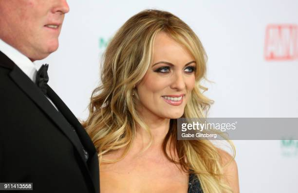 Adult film actress/director Stormy Daniels attends the 2018 Adult Video News Awards at the Hard Rock Hotel Casino on January 27 2018 in Las Vegas...