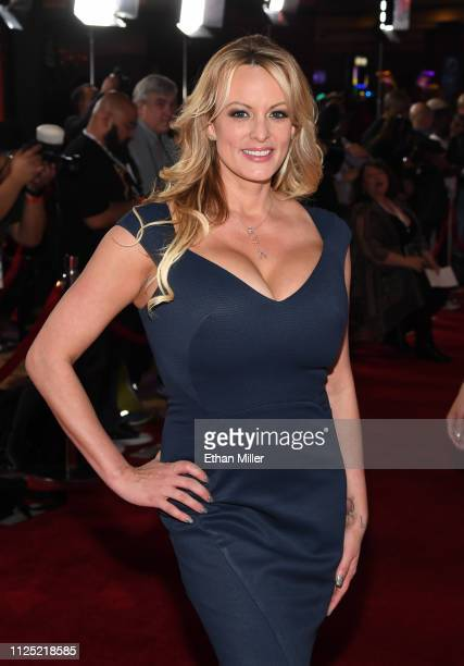 Adult film actress/director Stormy Daniels attends the 2019 Adult Video News Awards at The Joint inside the Hard Rock Hotel & Casino on January 26,...