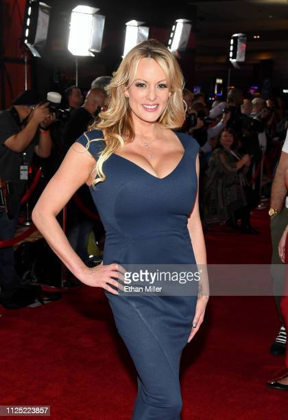 Adult film actress/director Stormy Daniels attends the 2019 Adult Video News Awards at The Joint inside the Hard Rock Hotel Casino on January 26 2019...