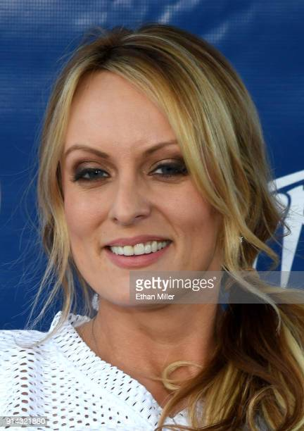 Adult film actress/director Stormy Daniels hosts a Super Bowl party at Sapphire Las Vegas Gentlemen's Club on February 4 2018 in Las Vegas Nevada