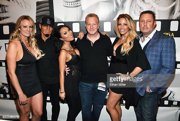 Adult film actress/director Stormy Daniels, Wicked Pictures publicist Daniel Metcalf, adult film actress/director Asa Akira, Wicked Pictures Founder...