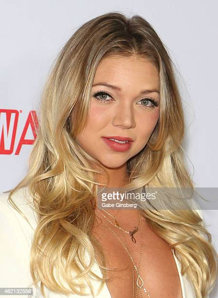 Adult film actress/DJ Jessie Andrews arrives at the 2015 Adult Video News Awards at the Hard Rock Hotel Casino on January 24 2015 in Las Vegas Nevada