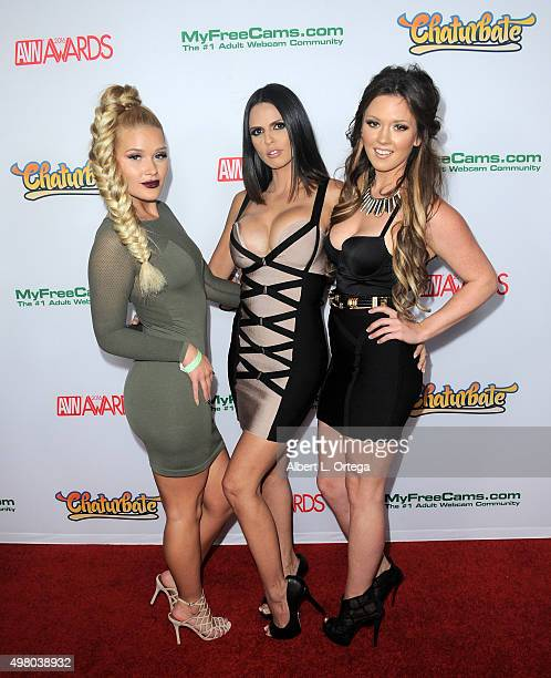 Adult Film Actresses Abby Cross And Shy Love At The 2016 Avn Awards Nomination Party Held