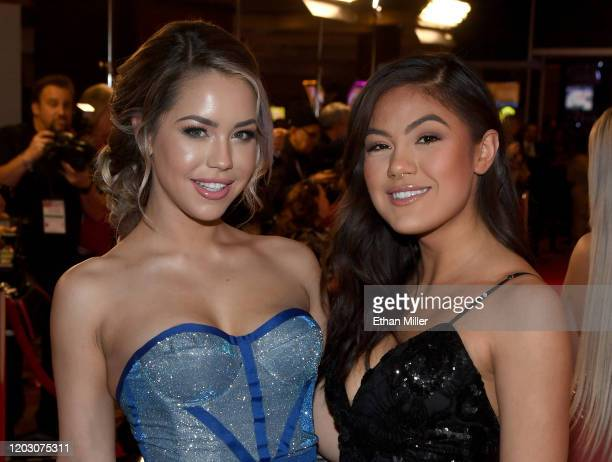 Adult film actresses Alina Lopez and Kendra Spade attend the 2020 Adult Video News Awards at The Joint inside the Hard Rock Hotel Casino on January...