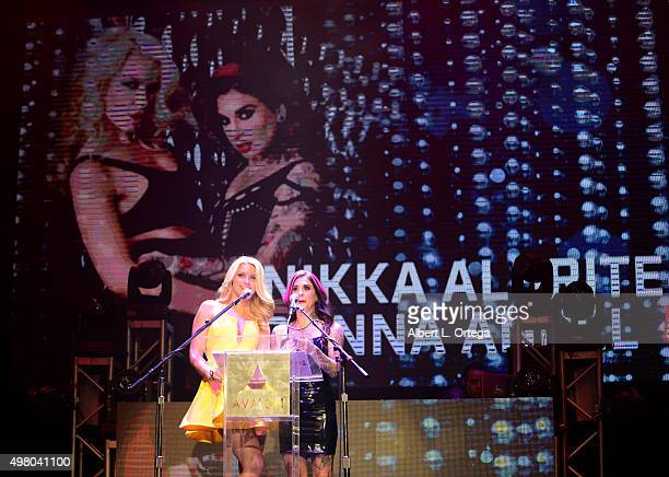 Adult film actresses Anikka Albrite and Joanna Angel at the 2016 AVN Awards Nomination Party held at Avalon on November 19 2015 in Hollywood...