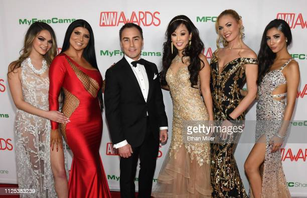Adult film actresses Athena Faris and Romi Rain AVN Media Network CEO Tony Rios comedian and television personality Esther Ku webcam model Bailey...