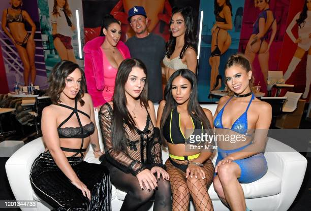 Adult film actresses Jada Stevens Gabbie Carter Autumn Falls and Jill Kassidy and adult film actress Angela White adult film producer/director Jules...