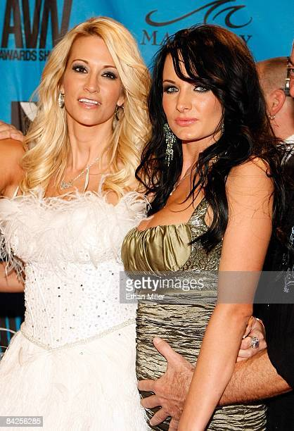 Adult film actresses jessica drake and Alektra Blue arrives at the 26th annual Adult Video News Awards Show at the Mandalay Bay Events Center January...