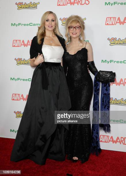 Adult film actresses Julia Ann and Nina Hartley attend the Adult Video News Awards AVN Awards at Hard Rock Hotel Casino in Las Vegas Nevada USA on 21...