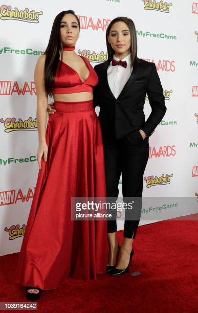 Adult film actresses Karlee Grey and Abella Danger attend the Adult Video News Awards AVN Awards at Hard Rock Hotel Casino in Las Vegas Nevada USA on...