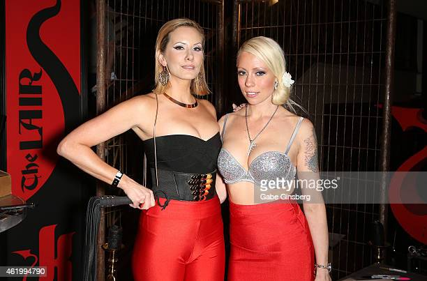 Adult film actresses Maitresse Madeline and Lorelei Lee attend the 2015 AVN Adult Entertainment Expo at the Hard Rock Hotel Casino on January 22 2015...