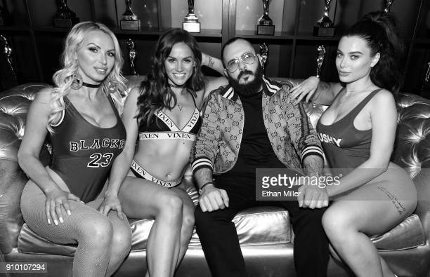 Adult film actresses Nikki Benz and Tori Black, adult film producer/director Greg Lansky and adult film actress Lana Rhoades appear at Lansky's...
