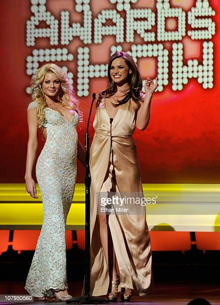 Adult film actresses Riley Steele and Tori Black host the 28th annual Adult Video News Awards Show at The Pearl concert theater at the Palms Casino...