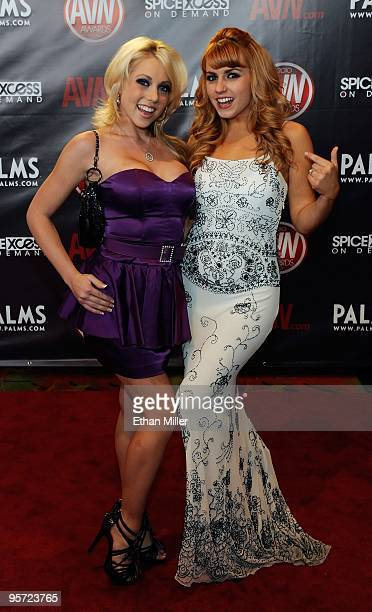 Adult film actresses Shawna Lenee and Lexi Belle arrive at the 27th annual Adult Video News Awards Show at the Palms Casino Resort January 9 2010 in...