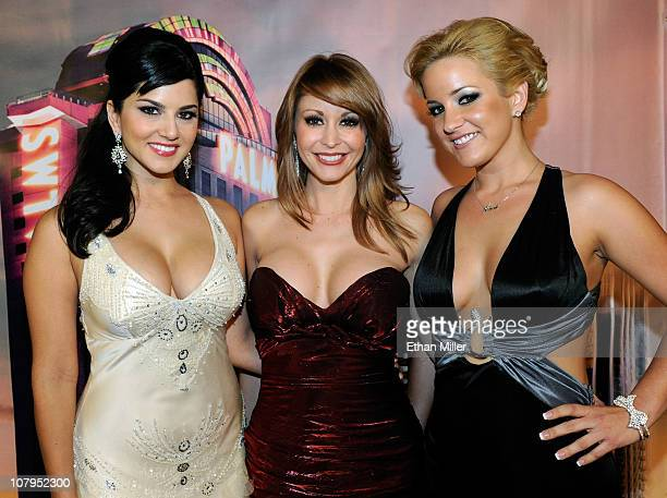 Adult film actresses Sunny Leone Monique Alexander and Lia arrive at the 28th annual Adult Video News Awards Show at the Palms Casino Resort January...
