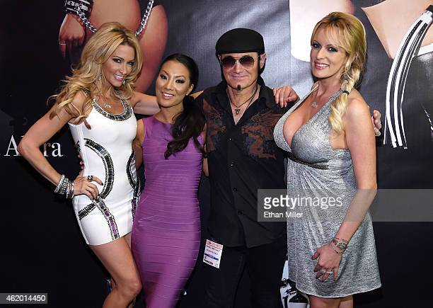 Adult film actresses/directors jessica drake and Asa Akira, Wicked Pictures publicist Daniel Metcalf and adult film actress/director Stormy Daniels...