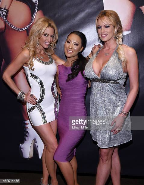 Adult film actresses/directors jessica drake, Asa Akira and Stormy Daniels attend the 2015 AVN Adult Entertainment Expo at the Hard Rock Hotel &...