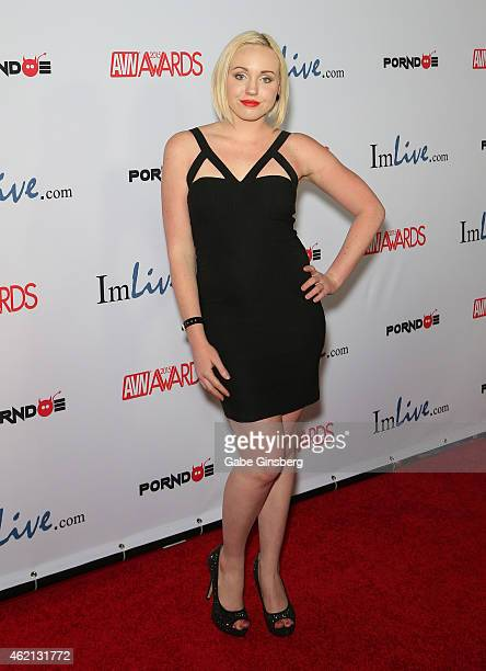 Adult film actress/Miley Cyrus impersonator Miley May arrives at the 2015 Adult Video News Awards at the Hard Rock Hotel Casino on January 24 2015 in...