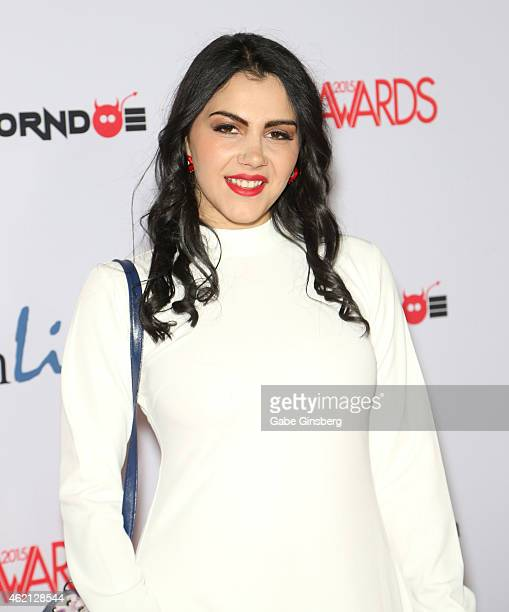 Adult film actress/model Valentina Nappi arrives at the 2015 Adult Video News Awards at the Hard Rock Hotel Casino on January 24 2015 in Las Vegas...