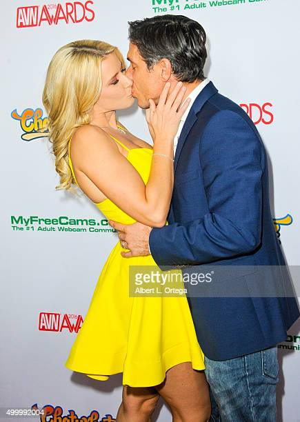 Adult film actresss Anikka Albrite and husband/adult film actor Mick Blue at the 2016 AVN Awards Nomination Party held at Avalon on November 19 2015...