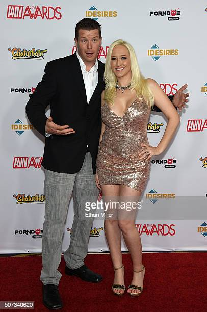 Adult film director Chris Evans and his wife adult film actress Alana Evans attend the 2016 Adult Video News Awards at the Hard Rock Hotel Casino on...