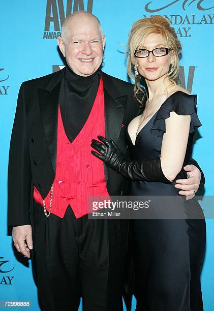 Adult film director Ernest Greene and his wife, adult film actress Nina Hartley, arrive at the 24th annual Adult Video News Awards Show at the...