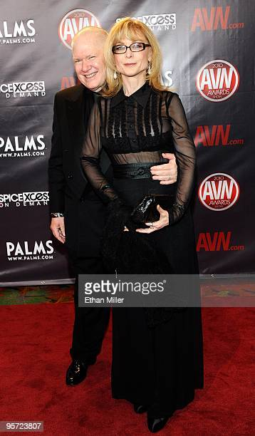 Adult film director Ernest Greene and his wife adult film actress Nina Hartley arrive at the 27th annual Adult Video News Awards Show at the Palms...