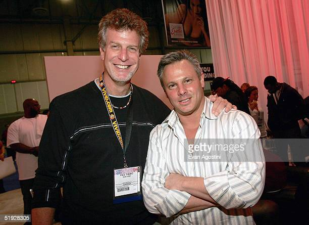 Adult film director Paul Thomas and Vivid Entertainment CoChairman Steven Hirsch participate in the 2005 AVN Adult Entertainment Expo at the Sands...