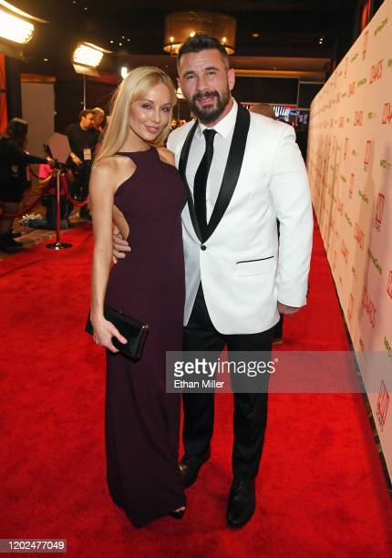 Adult film director/actress Kayden Kross and adult film actor/director Manuel Ferrara attend the 2020 Adult Video News Awards at The Joint inside the...