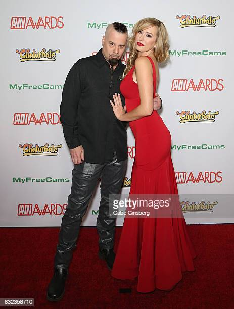 Adult film director/producer Anton Slayer and adult film actress Brett Rossi attend the 2017 Adult Video News Awards at the Hard Rock Hotel Casino on...