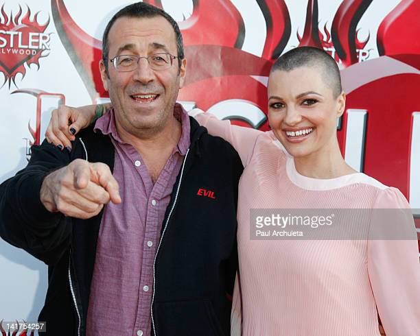 Adult Film Directors John Stagliano and Belladonna attend the Hustler Hollywood Walk Of Fame induction ceremony at Hustler Hollywood on March 22 2012...