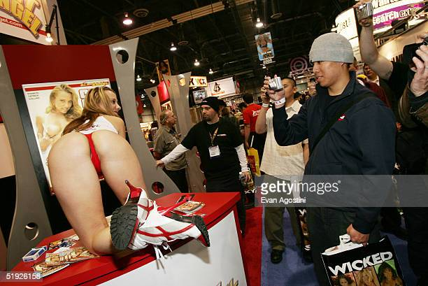Adult film entertainers participate in the 2005 AVN Adult Entertainment Expo at the Sands Convention Center at the Venetian Hotel January 7 2005 in...