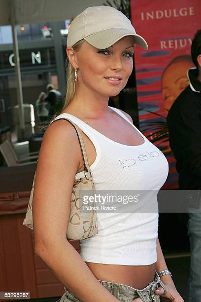 Adult film legend Silvia Saint attends the opening day of the 2005 California Exotic Novelties Sexpo on July 28 2005 in Sydney Australia