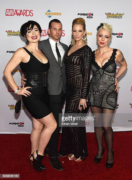 Adult film performers Siouxsie Q, Will Havoc, Madeline Marlow and Lorelei Lee attend the 2016 Adult Video News Awards at the Hard Rock Hotel & Casino...