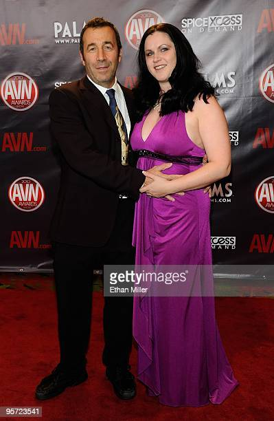 Adult film producer/director John Stagliano and his wife Evil Empire Director and Executive Karen Stagliano arrive at the 27th annual Adult Video...
