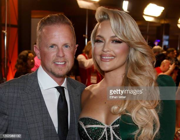 Adult film producer/director Jules Jordan and adult film actress/director Alexis Texas attend the 2020 Adult Video News Awards at The Joint inside...