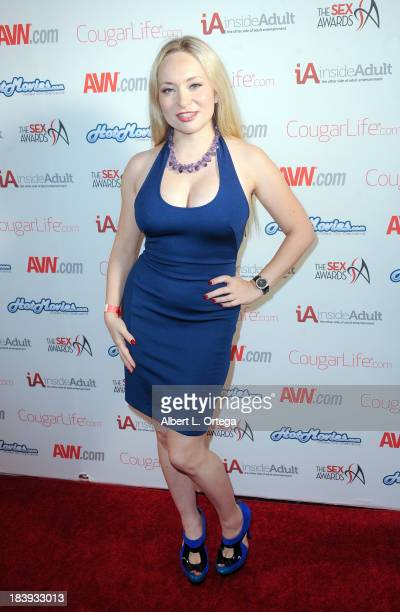 Adult film sctress Aiden Starr arrives for The 1st Annual Sex Awards 2013 held at Avalon on October 9 2013 in Hollywood California