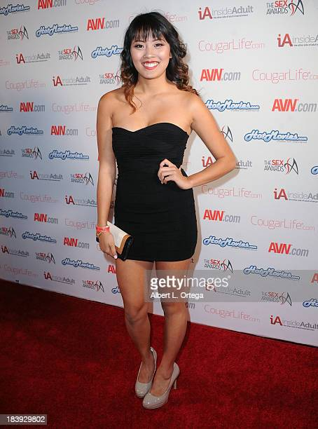 Adult film sctress Angelina Chung arrives for The 1st Annual Sex Awards 2013 held at Avalon on October 9 2013 in Hollywood California