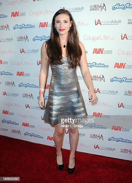 Adult film sctress Casey Calvert arrives for The 1st Annual Sex Awards 2013 held at Avalon on October 9 2013 in Hollywood California
