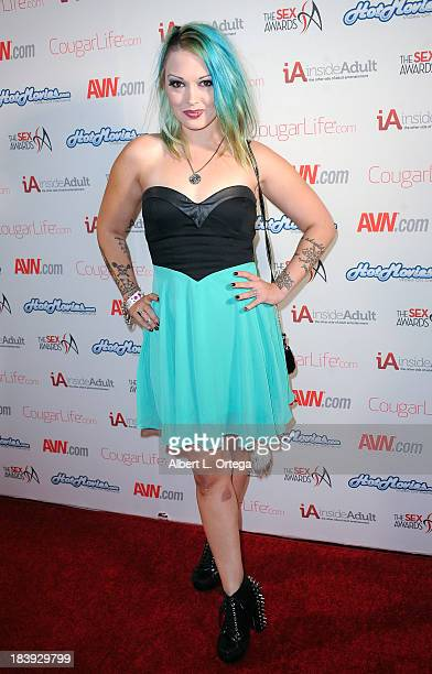 Adult film sctress Cece LaRue arrives for The 1st Annual Sex Awards 2013 held at Avalon on October 9 2013 in Hollywood California