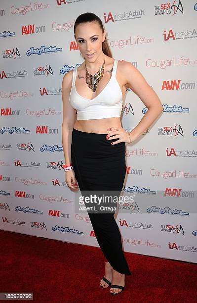 Adult film sctress Chanel Preston arrives for The 1st Annual Sex Awards 2013 held at Avalon on October 9 2013 in Hollywood California