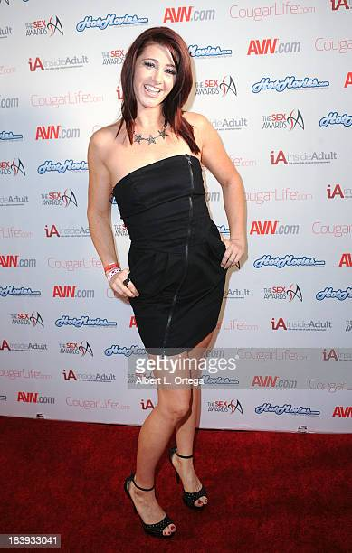 Adult film sctress Cici Rhodes arrives for The 1st Annual Sex Awards 2013 held at Avalon on October 9 2013 in Hollywood California