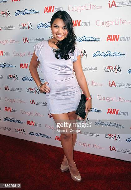 Adult film sctress Cindy Starfall arrives for The 1st Annual Sex Awards 2013 held at Avalon on October 9 2013 in Hollywood California