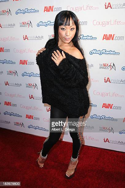 Adult film sctress Gaia arrives for The 1st Annual Sex Awards 2013 held at Avalon on October 9 2013 in Hollywood California